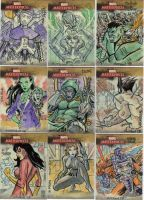 Marvel Masterpiece Cards 1 by mothbot