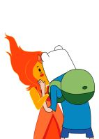 Flame Princess X Finn by GothicSnowflake