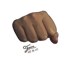 Fist Digital Art by AniraFarinA