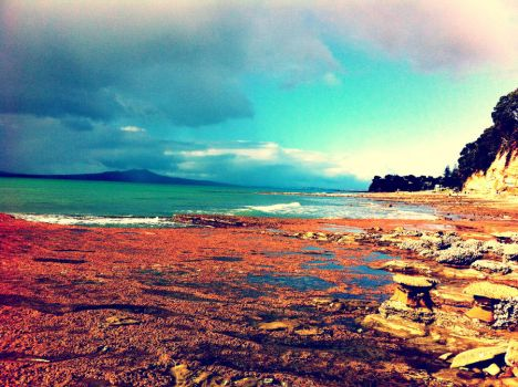 Auckland Beaches - iPhone Pic by Morethantoday