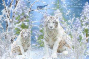 Snow Tigers loves snowfall - Animation by Jassy2012
