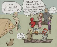 Dragon Age: Tent Time by moredot