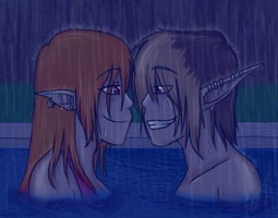Swimming In The Rain by Pokemon-Chick-1