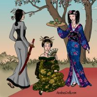 Geisha Game Screenshot by AzaleasDolls
