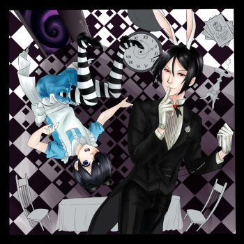 Ciel in Wonderland (not complete) by shelly-14