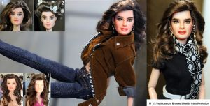 Brooke Shields custom doll repaint by noeling