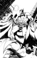 Batman Black and White by thecreatorhd