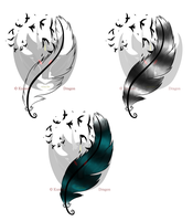 Feather of Freedom Tattoo Design by KumoriDragon