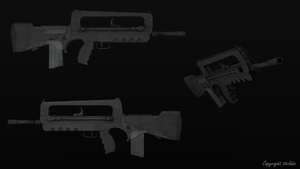 Famas Textured Model by ttrlabs