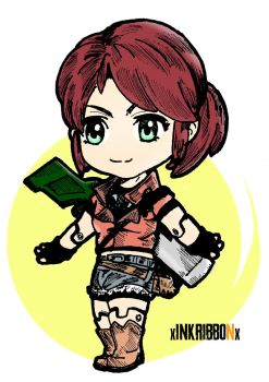 Claire Redfield Nendoroid  by XInkRibbonX