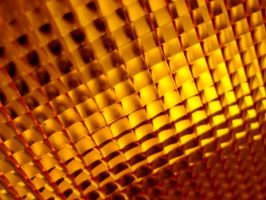 Grid of Orange Lights by ImageAbstraction