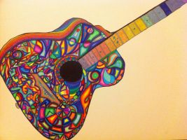 Psychedelic Acoustic Guitar by TellOfVisions