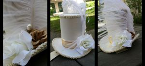 IF: Royal Vanilla Mini Top Hat by A-Little-White-Lie