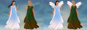 Justice/Melody as Greek Maidens with and w/o wings by PiccoloFreakNamick