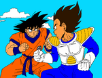 Goku and Vegeta: DBZ by RedMcSpoon