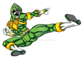 Tommy Oliver: The Green Ranger by JayDRivera