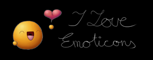 I love Emoticons mug black by Krissi001