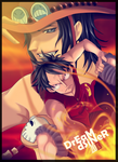 ace and luffy by DrEaMdSiNeR