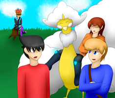 [Commission] The Mii Fighters meet Lord Altaria by Nikkilove025