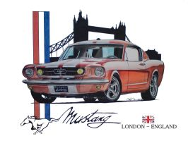 London Mustang by SIMPSONARTISTRY