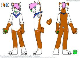 Fursuit Reference Sheet. by iGingie