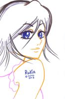 tender smile - Rukia by hana-sun