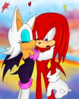 Rouge and Knuckles by Silver-Blaze-4-ever