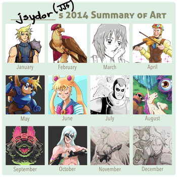 2014 Summary of Art by Los-Chainbird