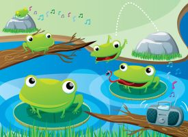 sapos frogs by circuscreative
