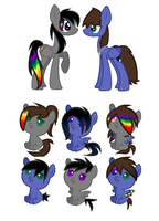 Graphitenight fillies adopt by doodle2thebluemoon