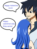 Juvia and Gray by littleblackstar345