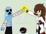 Request- high fiving Mrcreepypasta by S-K-Y-L-I