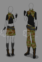 Military Outfit - unlimited by Nahemii-san