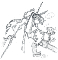 me and my killing machine by ReluctantZombie