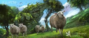Realm - Sheep Herding by atomhawk