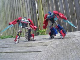 Nemesis vs. Optimus by KrytenMarkGen-0