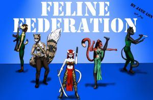 Comm: Feline Federation by JaneLon