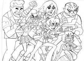 IT'S HERO TIME! BEN 10 OMNIVERSE (inked) by VectorMagnus2011