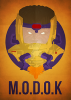 M.O.D.O.K Minimalism by skellerone