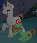 Gorger And Gregor Ponies by Saccharine-Cyanide