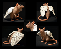 Kricket the Hairless Rat - Sculpture by nEVEr-mor