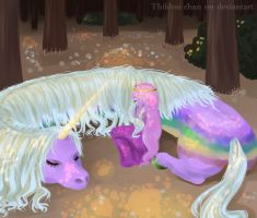Princess and Lady have a rest by Thildou-chan