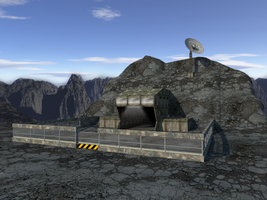 Military Mountain Base by Mr-Nike