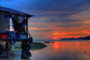 Sunset of PDL Penang - take 2 by fighteden