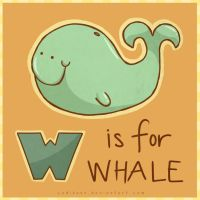 W is for Whale by CodiBear