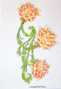 Rose Artwork 2 by Ben Moore by Booth-House-ArtGroup