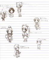 Chibi bunch of characters. by SoniaBane
