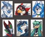 ACEO Color Headshots by ScullyRaptor