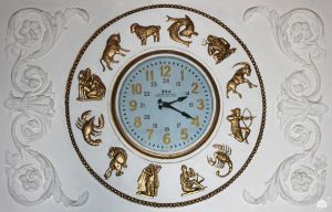 Clock with zodiac signs by VitaZheltyakov