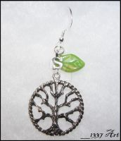 Custom Tree Earrings by 1337-Art